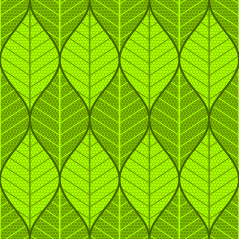 symmetric sine leaf pair fabric by sef on Spoonflower - custom fabric