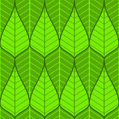 asymmetric sine leaf pair fabric by sef on Spoonflower - custom fabric