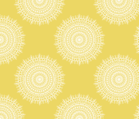 Medallion Sunshine fabric by littlerhodydesign on Spoonflower - custom fabric