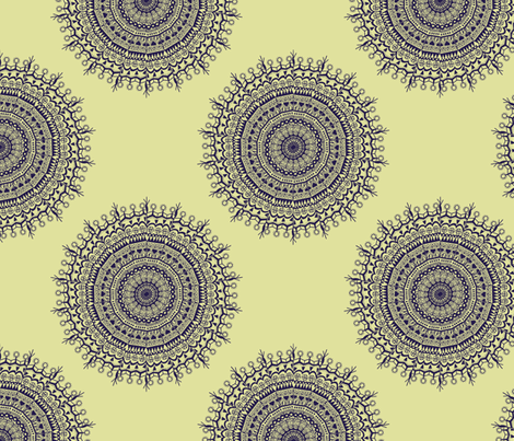 Medallion Royal fabric by littlerhodydesign on Spoonflower - custom fabric