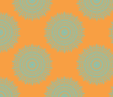 Medallion Tropicana fabric by littlerhodydesign on Spoonflower - custom fabric