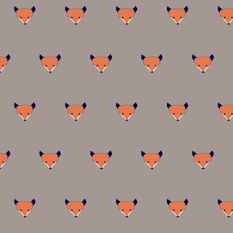 fox friend small fabric by hostetler on Spoonflower - custom fabric