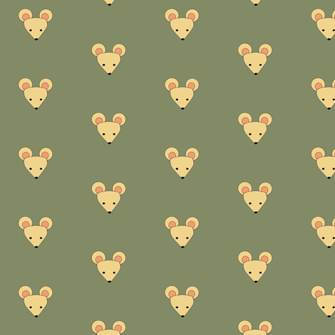 meek mouse small fabric by hostetler on Spoonflower - custom fabric