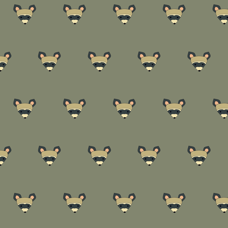 rambunctious raccoon small fabric by hostetler on Spoonflower - custom fabric