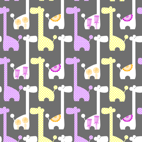 Mod Giraffes  fabric by natitys on Spoonflower - custom fabric