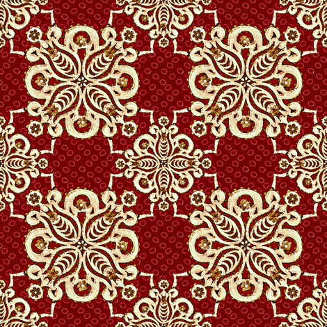 damask_christmas mission fabric by glimmericks on Spoonflower - custom fabric
