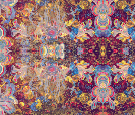 Lotus Melt fabric by highonsunshinevibes on Spoonflower - custom fabric
