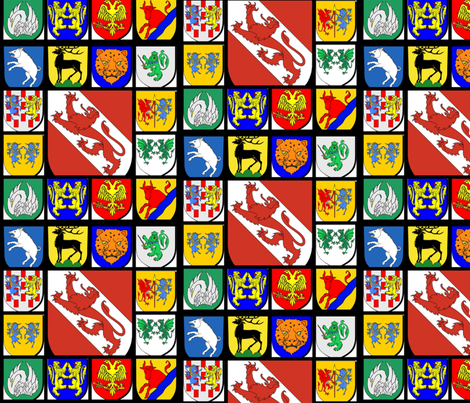 heraldry fabric by ravynscache on Spoonflower - custom fabric