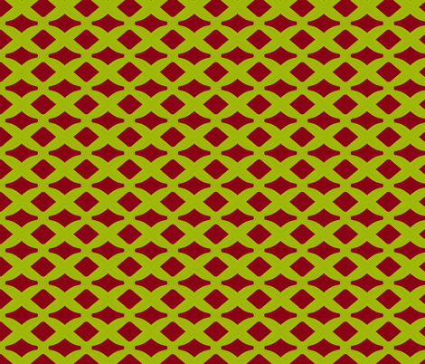 Chartreuse Lattice fabric by ravynscache on Spoonflower - custom fabric