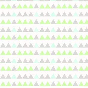 Green Triangles - Green, Mint, Grey