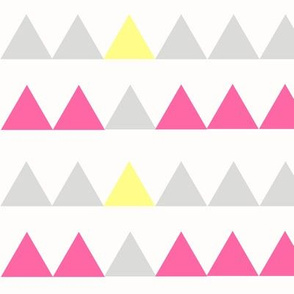 Pink, Yellow, Grey Triangles