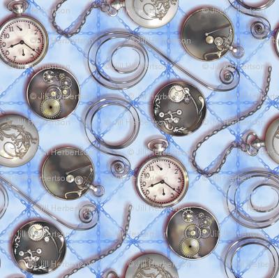 Pocketwatch--blue