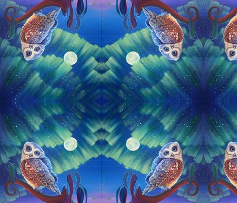 Aurora Owl fabric by katemccredie on Spoonflower - custom fabric
