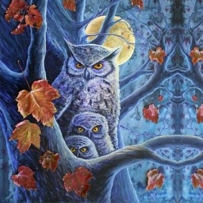 Harvest Moon Owls