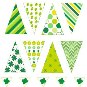 Mini Bunting - St. Patrick's Day!  -  PinkSodaPop 4ComputerHeaven.com