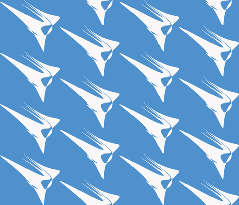 Wing On Light Blue fabric by mikep on Spoonflower - custom fabric