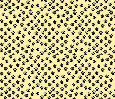 Dog paws fabric by polishedai on Spoonflower - custom fabric