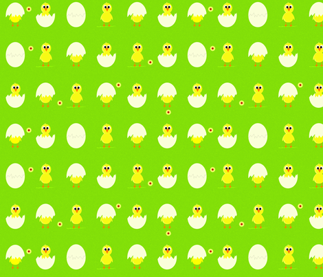 Spring chicks fabric by saskia_d on Spoonflower - custom fabric