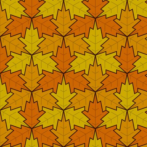 leaf 3x3 autumn / fall fabric by sef on Spoonflower - custom fabric