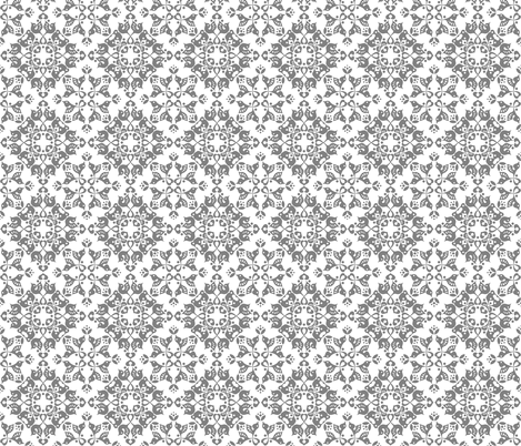 Freyja forest tiny grey on white fabric by bjornonsaturday on Spoonflower - custom fabric