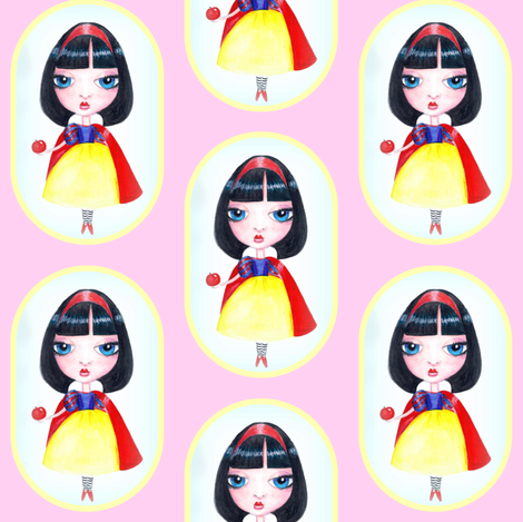 Snow White fabric by victoriagobel on Spoonflower - custom fabric