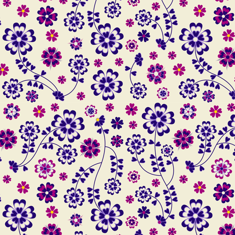 Summer Pudding  1 fabric by jill_o_connor on Spoonflower - custom fabric