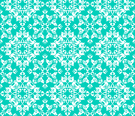 Freyja_forest_teal fabric by bjornonsaturday on Spoonflower - custom fabric