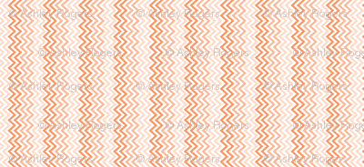 peach chevron ombre