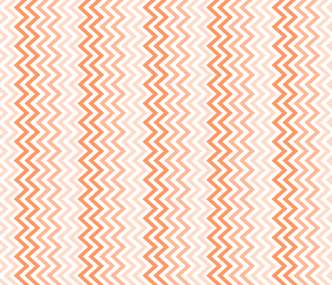 peach chevron ombre fabric by anjrogers0804 on Spoonflower - custom fabric