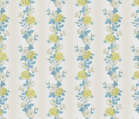 Jane_Austin1-blue fabric by dtreptow on Spoonflower - custom fabric