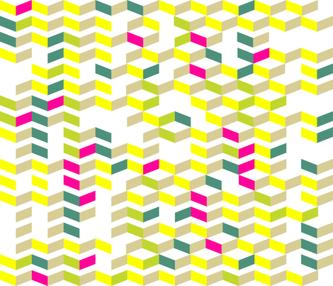 Broken Chevron in Neon fabric by kfay on Spoonflower - custom fabric