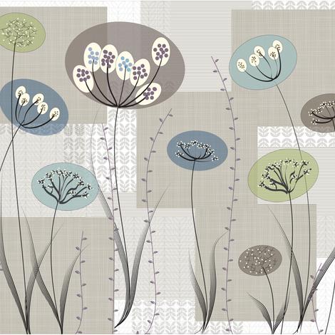 Natural_Modern_Flowers_Stripes_Back_RGB fabric by the_spun_angora on Spoonflower - custom fabric