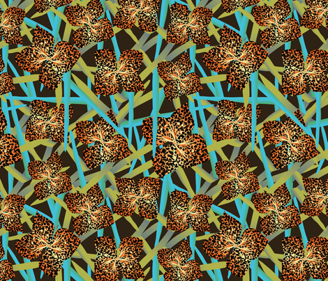imaginary flower fabric by kociara on Spoonflower - custom fabric
