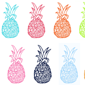 EXTRA LARGE Pineapple Party in Multicolor