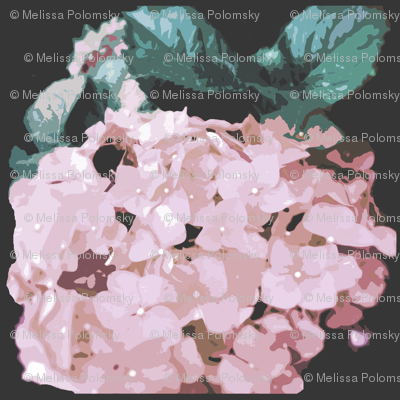 Light Pink Antique Hydrangea Floral