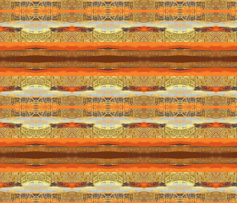 Stripy_Savannah-orange fabric by yezarck on Spoonflower - custom fabric