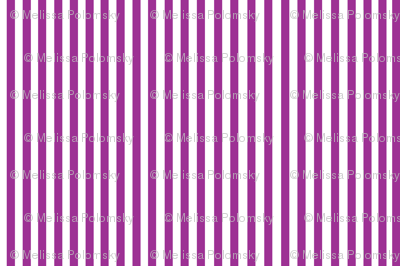 Perfectly Pinstripe in Violet // White