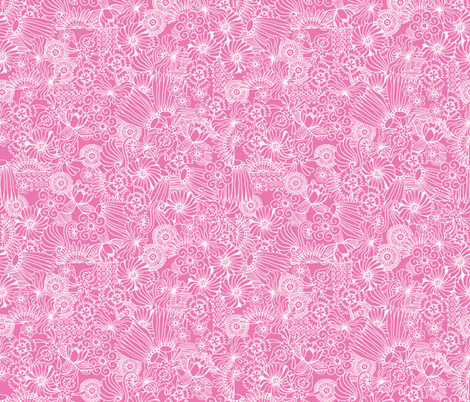 Strong Smart Beautiful ME pink reverse fabric by gitchyville_stitches on Spoonflower - custom fabric