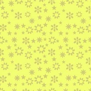 Yellow stars and flowers