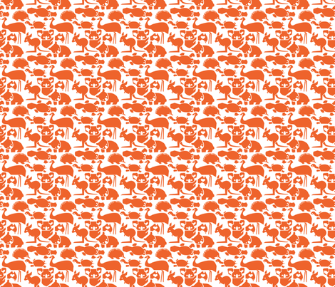 OZ Love Orange small fabric by bjornonsaturday on Spoonflower - custom fabric