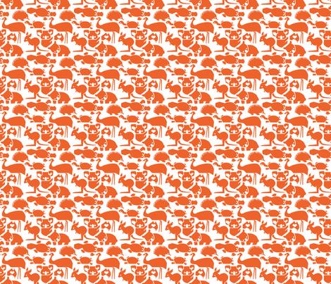 OZ Love Orange small fabric by bjornonsaturday on Spoonflower - custom fabric