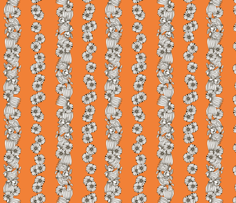 Strong Smart Beautiful ME orange stripe fabric by gitchyville_stitches on Spoonflower - custom fabric