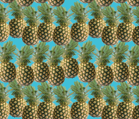 pineapple fabric by kociara on Spoonflower - custom fabric