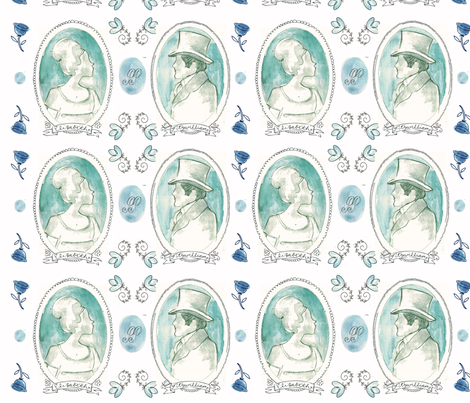 Jane Austen: Pride & Prejudice fabric by monalila on Spoonflower - custom fabric