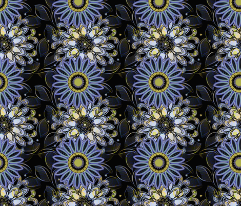 Moonlight Blooms fabric by joanmclemore on Spoonflower - custom fabric