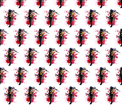 Roller Derby Ninja fabric by t_n_penguin on Spoonflower - custom fabric