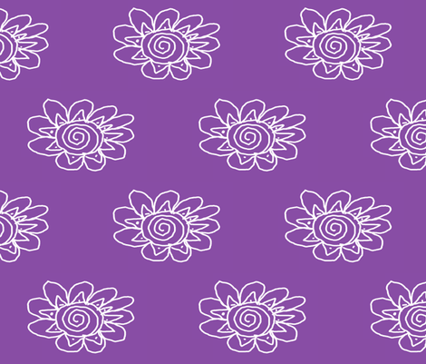 Atomic Flower fabric by anniedeb on Spoonflower - custom fabric