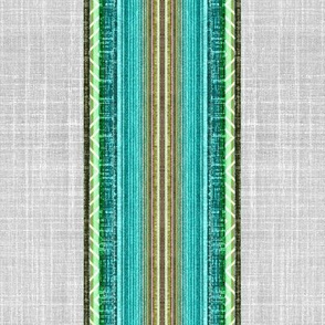 Beach faux linen stripe