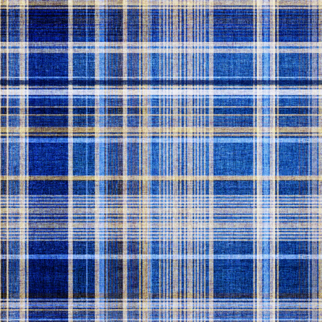 Plaid in blue fabric by joanmclemore on Spoonflower - custom fabric