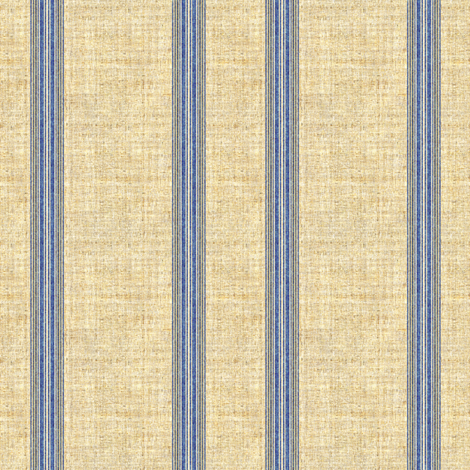 Grain Sack stripe in blue and linen fabric by joanmclemore on Spoonflower - custom fabric